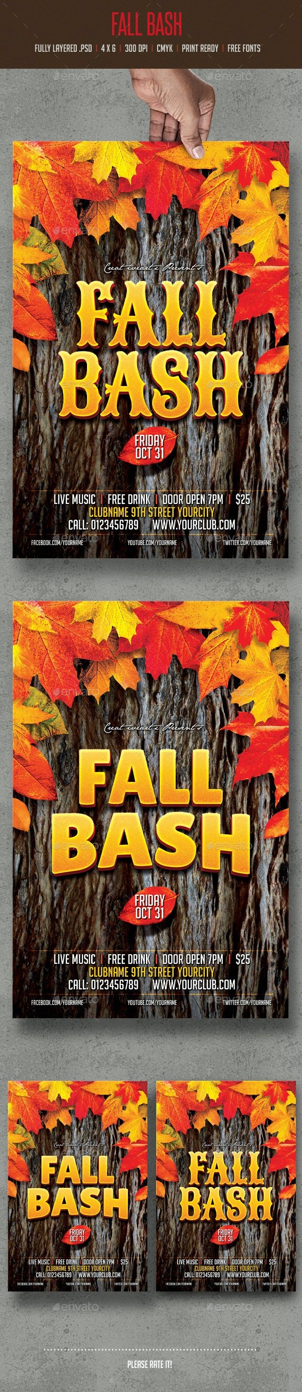 Fall Bash - Events Flyers