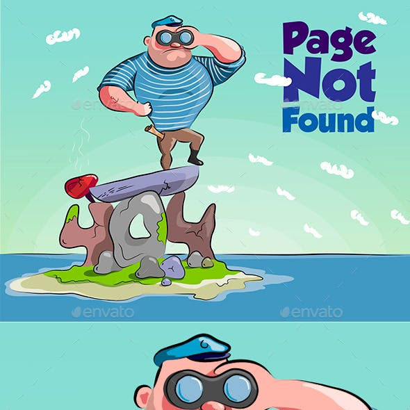 Funny sailor 404 error page