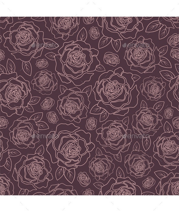 Background of Roses - Patterns Decorative