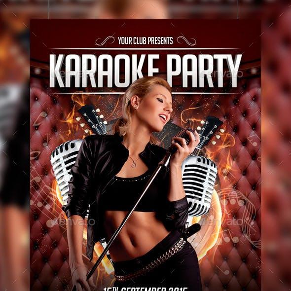 Karaoke Party Flyer Template