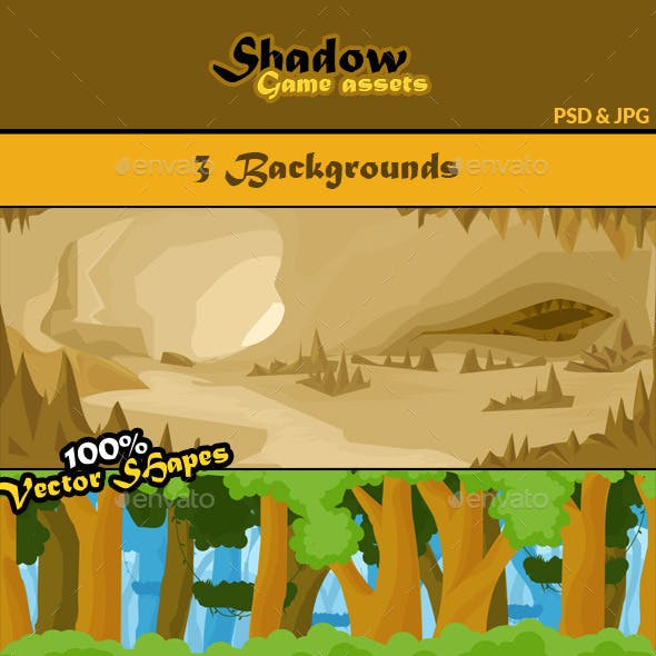 Shadow Game Assets: Backgrounds