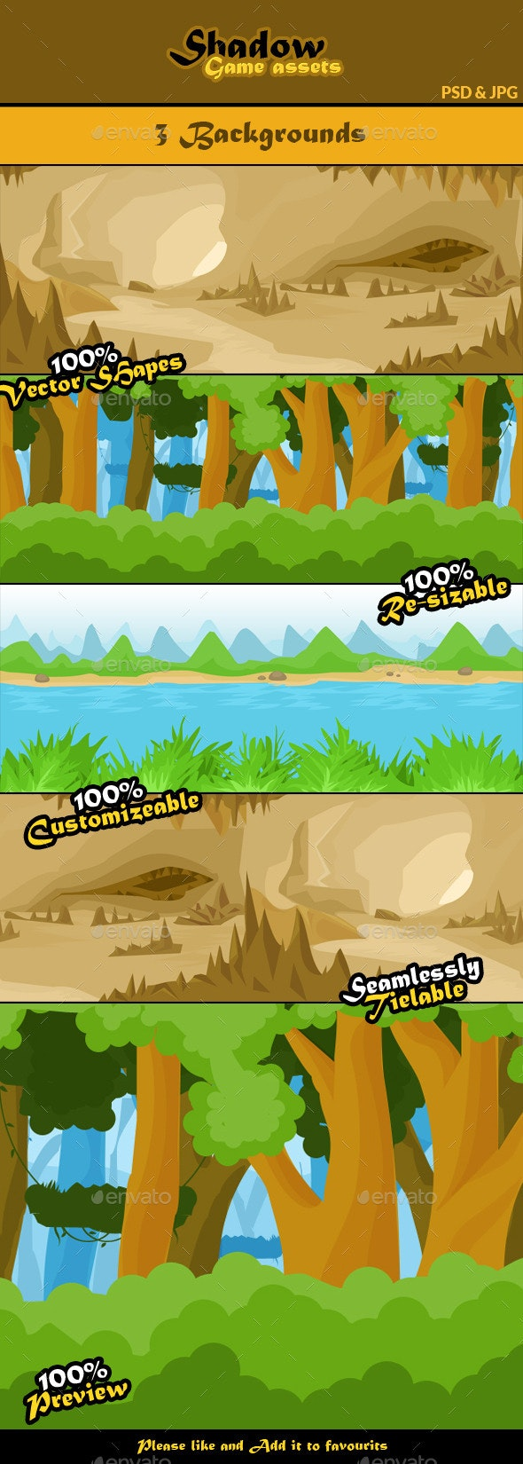 Shadow Game Assets: Backgrounds - Backgrounds Game Assets