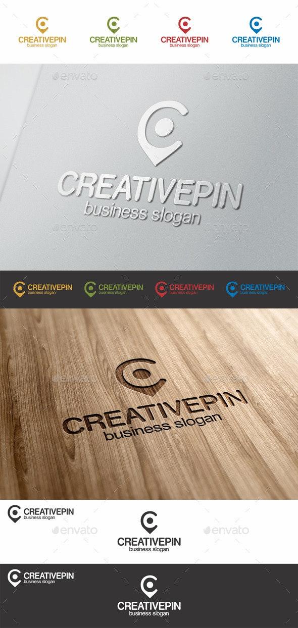 Creative Pin C Point Letter Logo - Symbols Logo Templates
