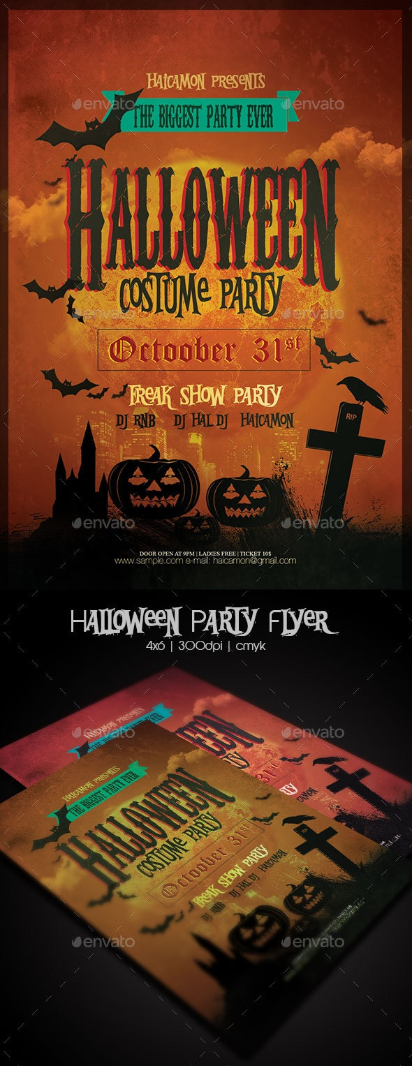 Halloween Party Flyer Template - Holidays Events