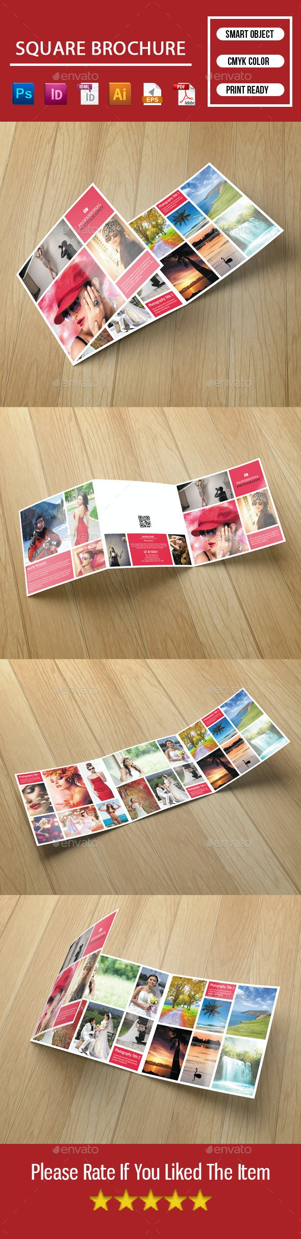 Square Trifold Brochure-Photography - Corporate Brochures