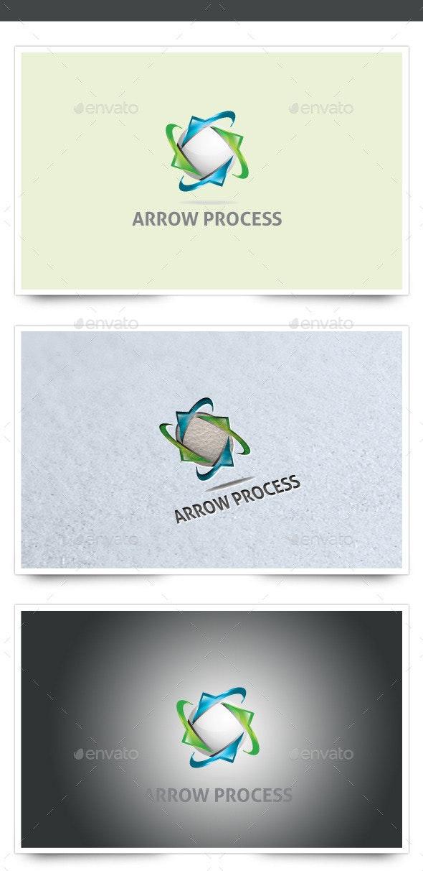 3D Arrow Process Logo - 3d Abstract