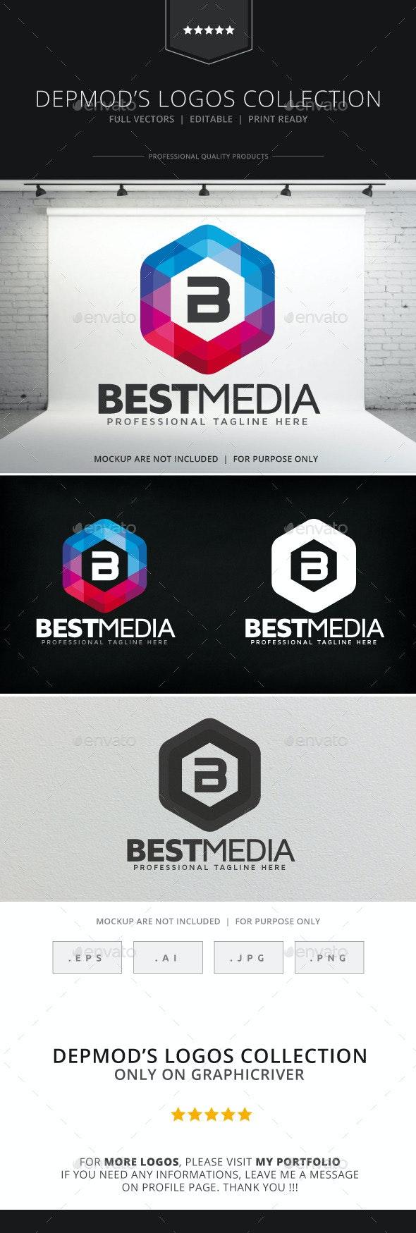 Best Media Logo - Letters Logo Templates