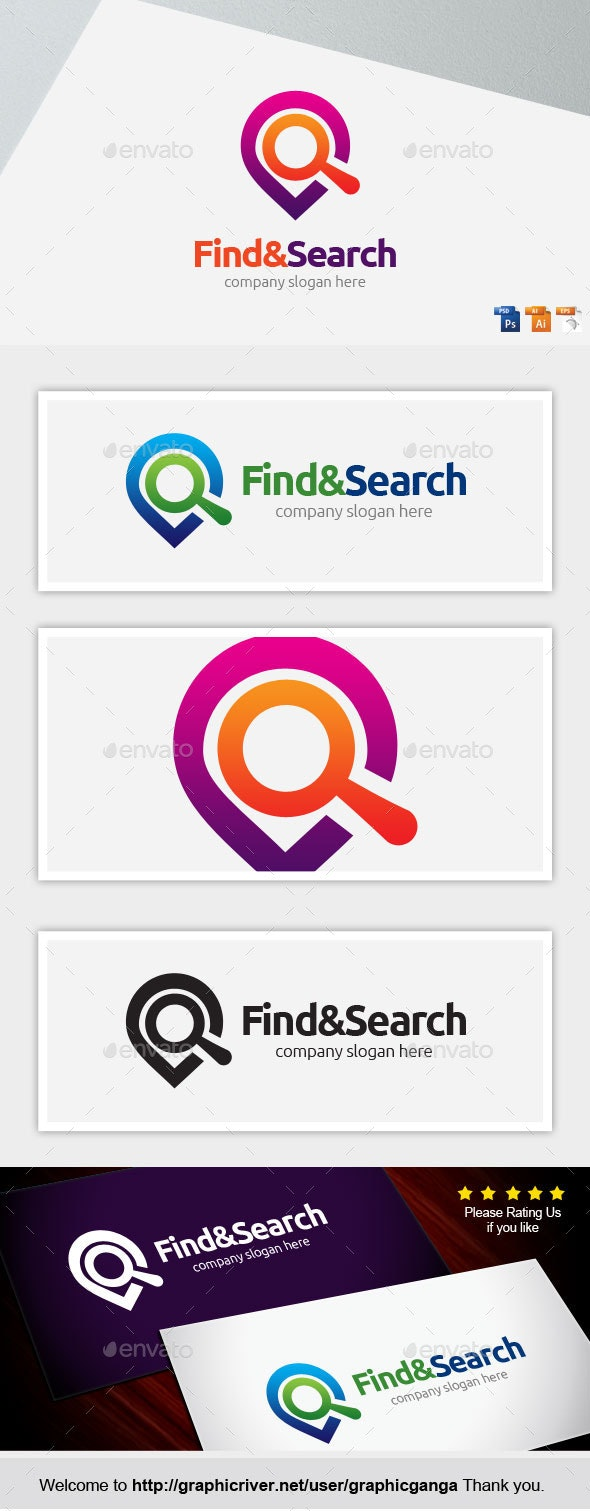 Find & Search - Symbols Logo Templates