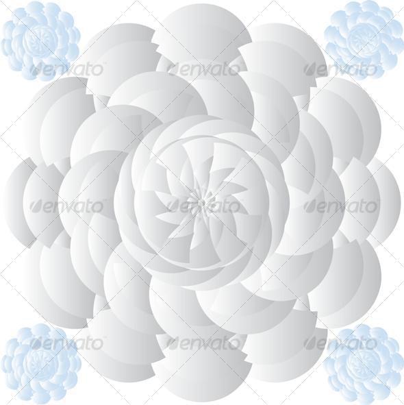 VETCTOR FLOWERS - Decorative Symbols Decorative