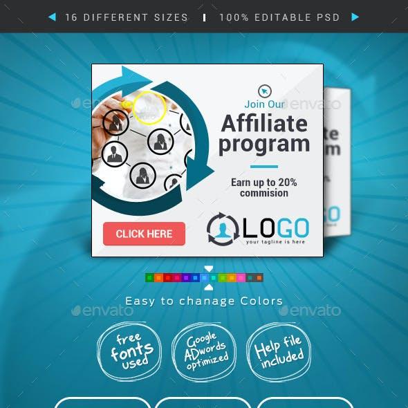 Affiliate Web Banner Design