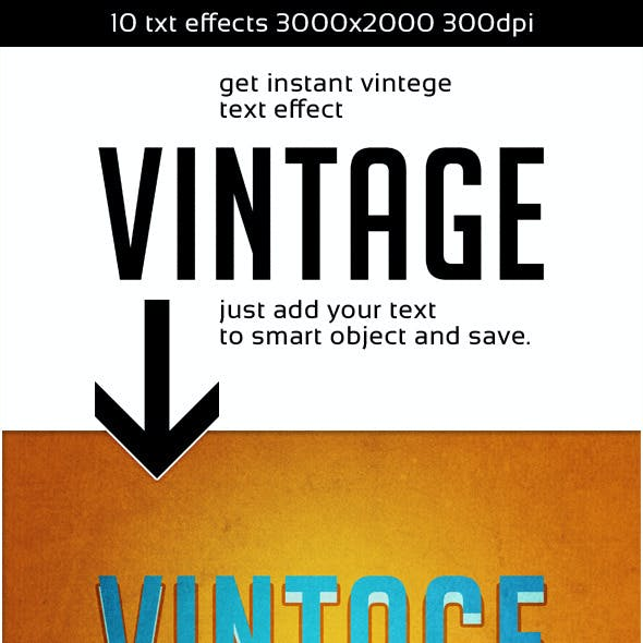 Vintage Instant Retro Text Effect