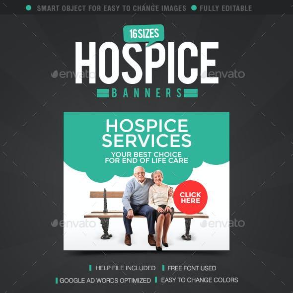 Hospice Care Web Banner Design Set