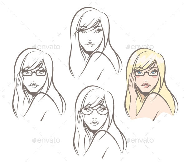 Woman Wearing Glasses - People Characters
