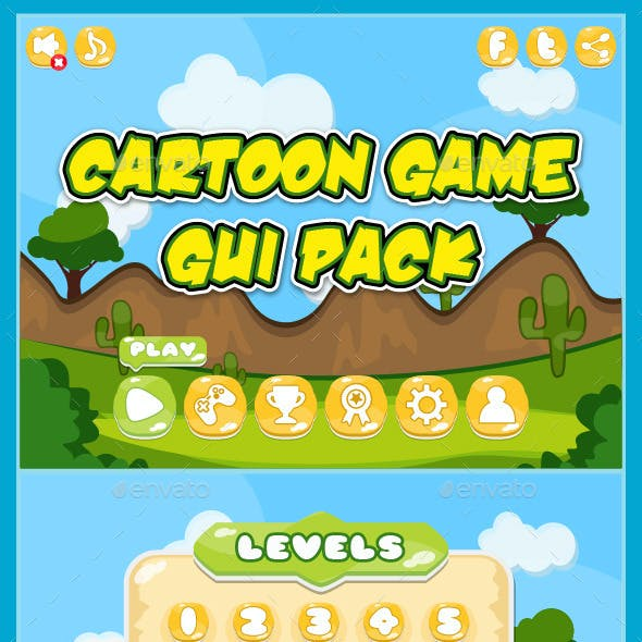 Mobile 2D Game GUI Pack