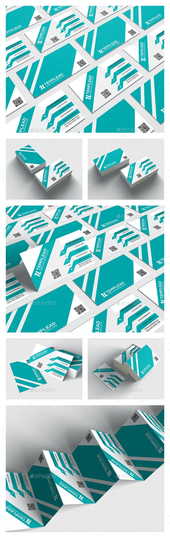 Modern Corporate Business Card HP0019 - Corporate Business Cards