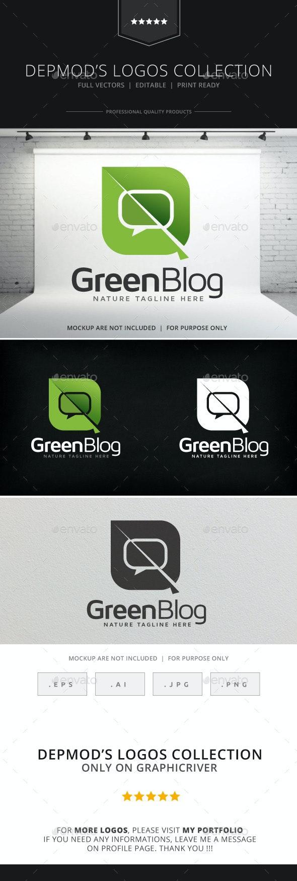 Green Blog Logo - Nature Logo Templates