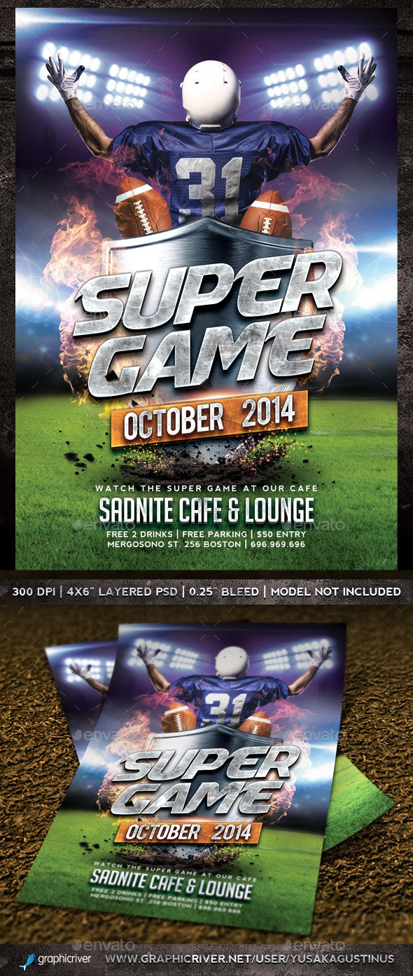 Super Game Flyer - Sports Events