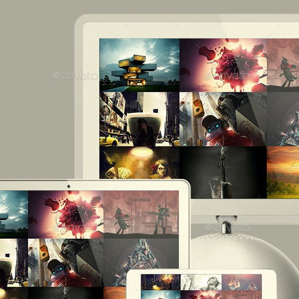 Website Screen Mockups Pack