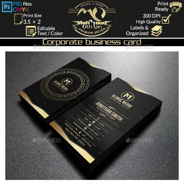 Gold Corporate Business Card 47