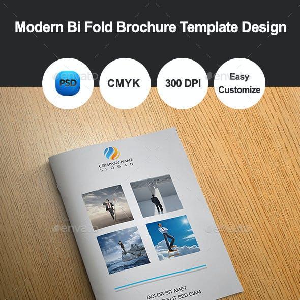 Modern Bi Fold Brochure Template Design