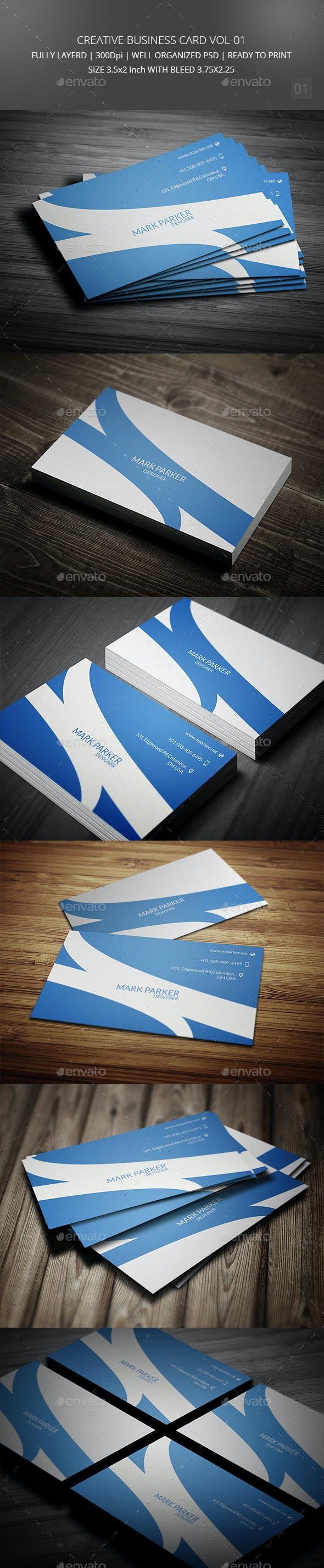 Creative Business Card Vol-01 - Corporate Business Cards
