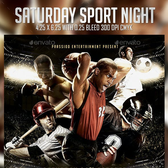 Saturday Sport Night Flyer Template