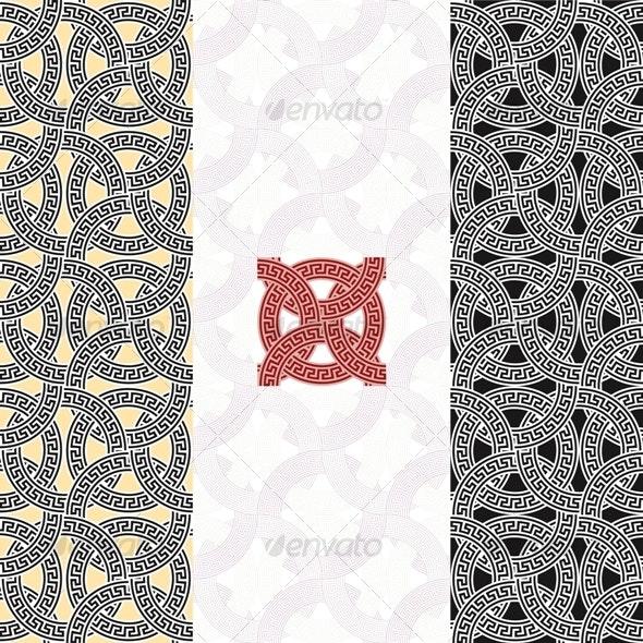 MEANDER NET - Backgrounds Decorative