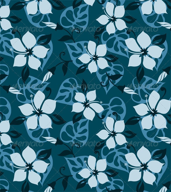Hibiscus Pattern - Patterns Decorative