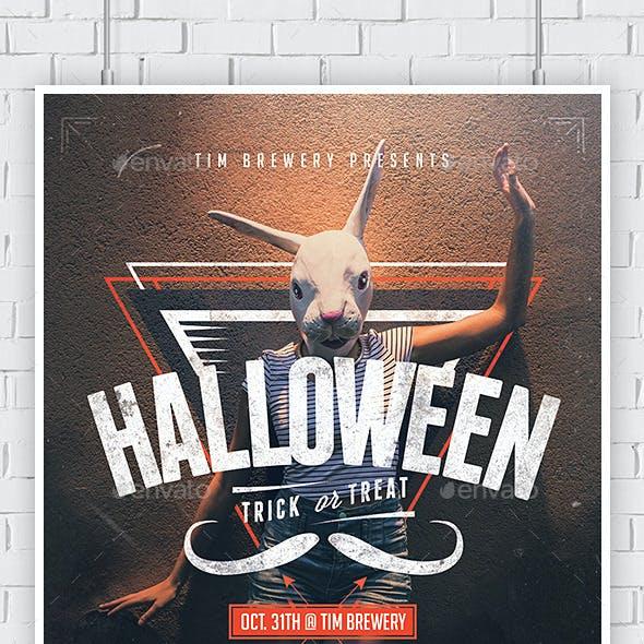 Hipster Halloween Flyer Template