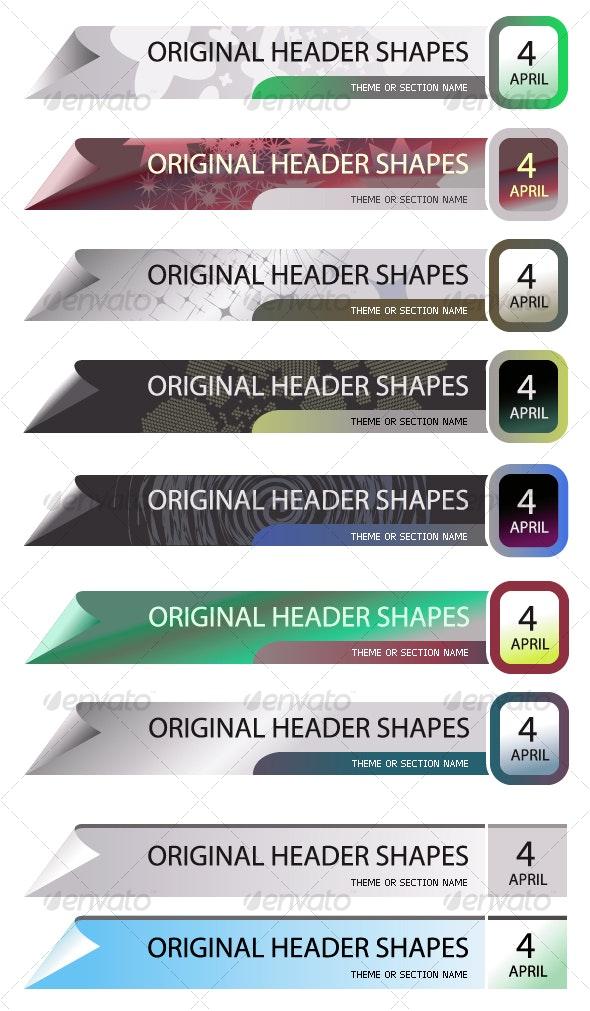 Original Header Shape 91 - Decorative Vectors