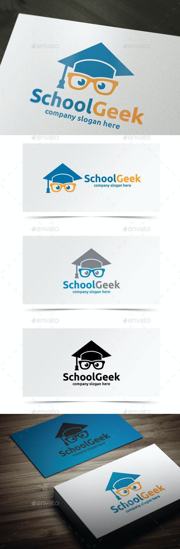 School Geek - Objects Logo Templates