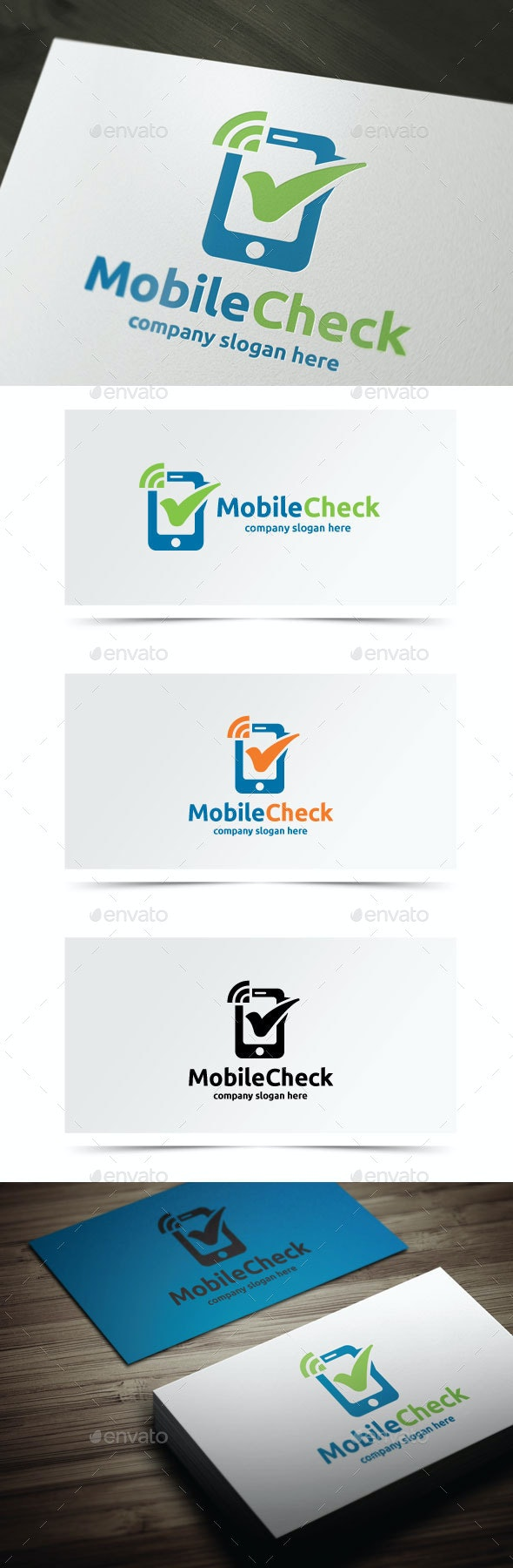 Mobile Check - Objects Logo Templates