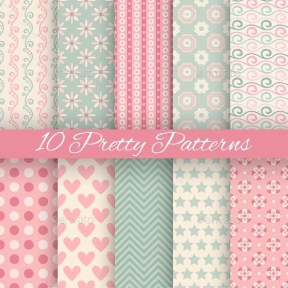 Pastel Seamless Patterns  - Patterns Decorative