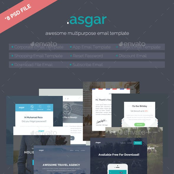 Asgar - Multipurpose Email Template