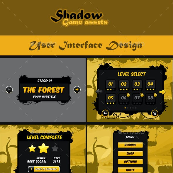Shadow Game Assets: GUI Pack