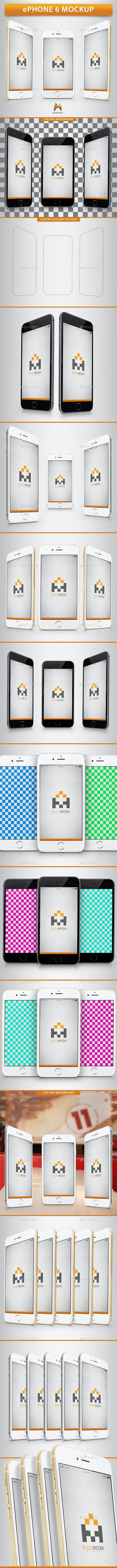ePhone 6 Mockup - Product Mock-Ups Graphics