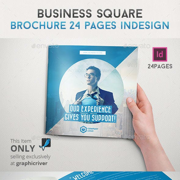 Business Square Brochure 24 Pages Indesign