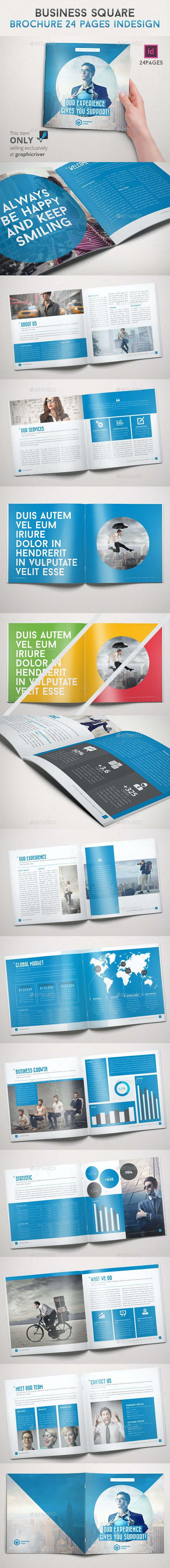 Business Square Brochure 24 Pages Indesign - Informational Brochures