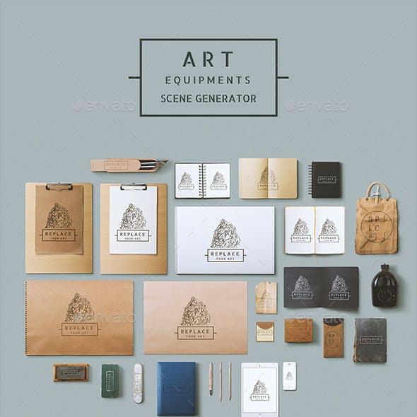 Art Equipments Scene Generator V1