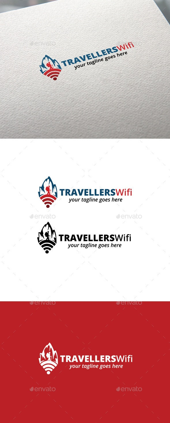 Travelers Wifi - Objects Logo Templates