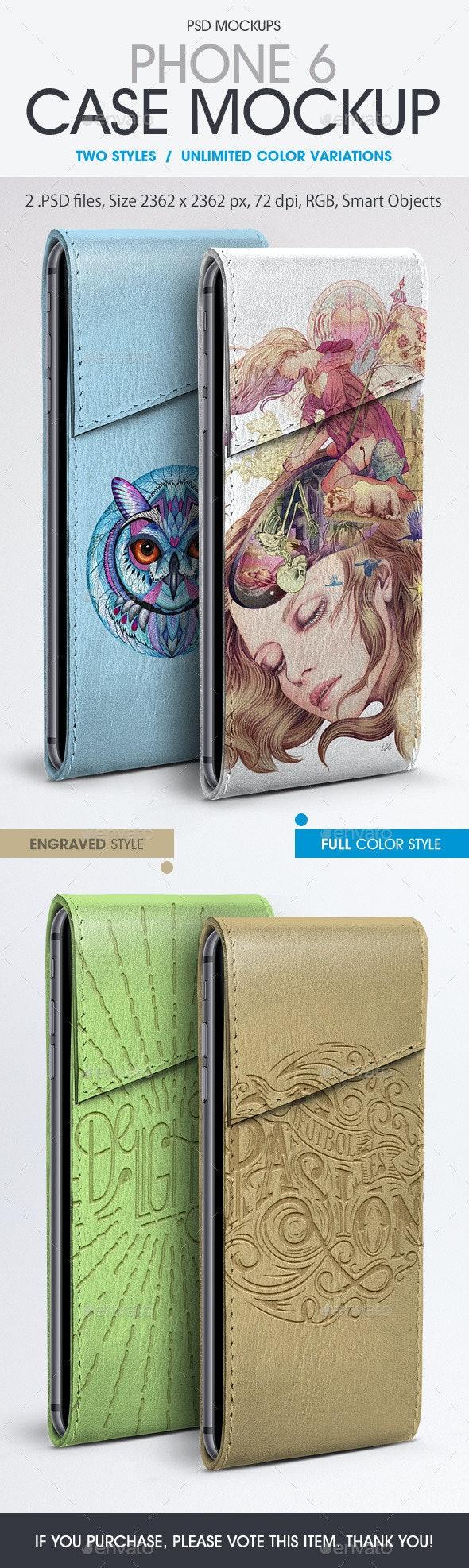 Phone 6 Case Mockup - Product Mock-Ups Graphics