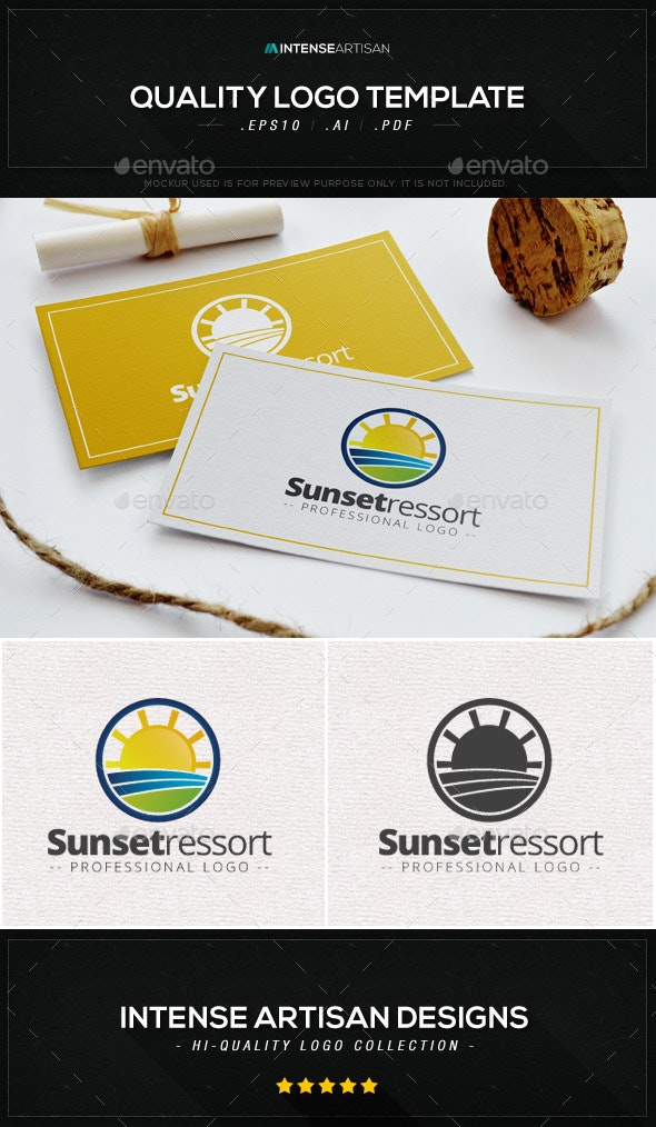Sunset Ressort Logo Template - Nature Logo Templates