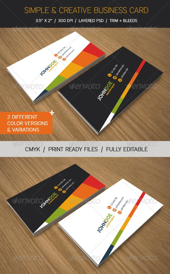 Simple & Creative Business Cards - Creative Business Cards