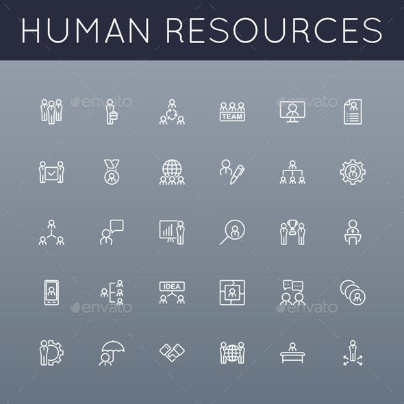 Vector HR Line Icons