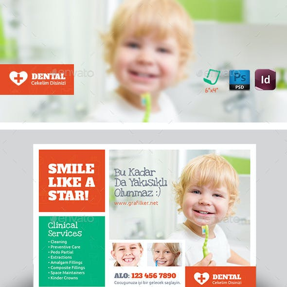 Kids Dental Postcard Templates