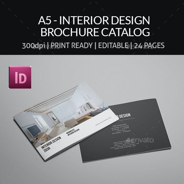 A5 - Interior Design Brochure Catalog