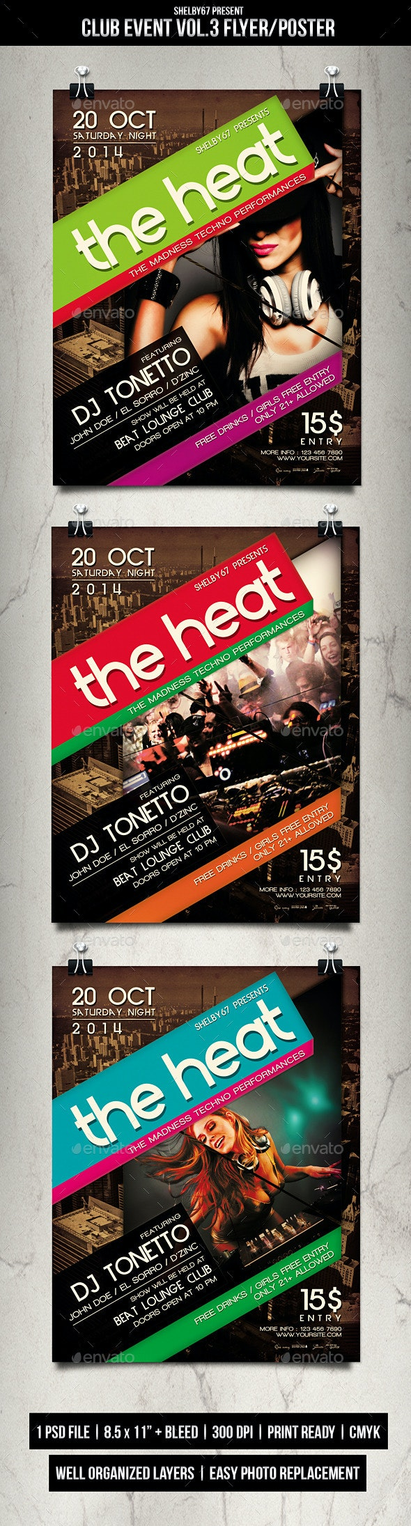 Club Event Flyer / Poster Vol.3 - Clubs & Parties Events