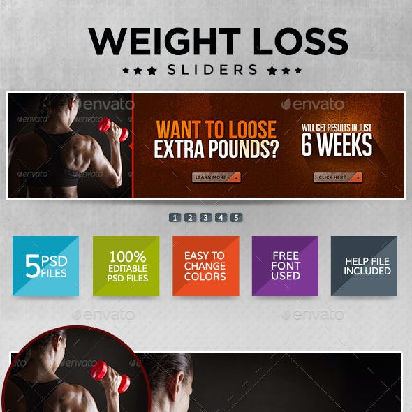 Weight Loss and Fitness Sliders