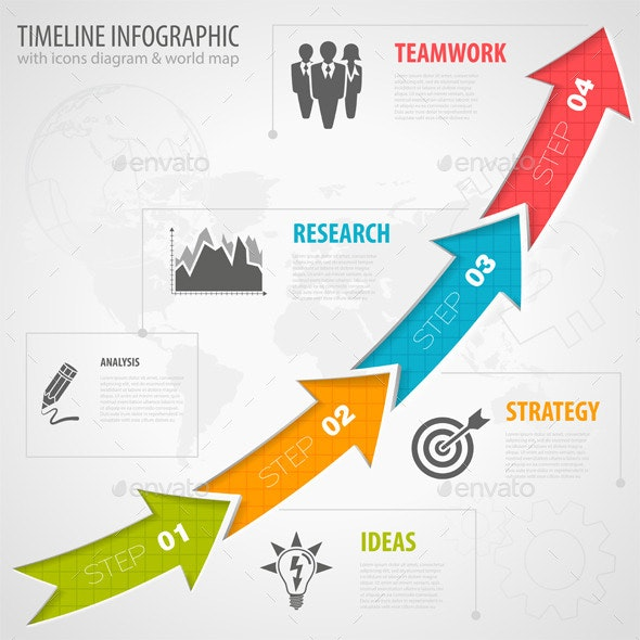 Timeline Infographic - Concepts Business