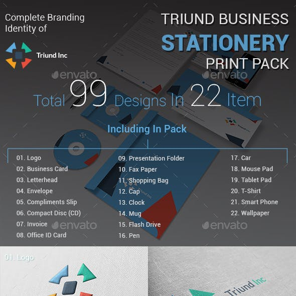 Triund Business Stationery Print Pack